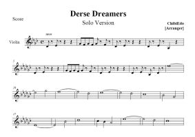 Derse Dreamers for one violin - sheet music by ChibiEdo