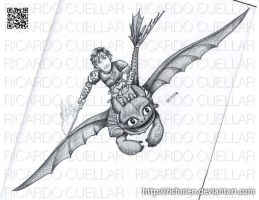 Hiccup and Toothless HTTYD2 by Richmen
