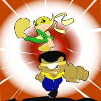 powerman and iornfist by kevtoons