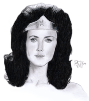 Wonder Woman (Lynda Carter) Traditional by Voorhees87