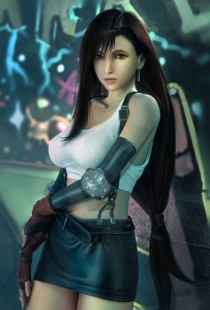 Tifa_portrait by Wen-JR