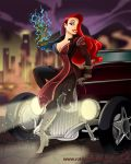 Jessica Rabbit as Asami Sato by racookie3
