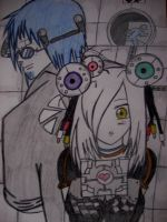 Wheatley loves Glados (Colored) by Crimsoneyes26