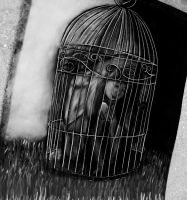 Caged Black and White by melissrrr
