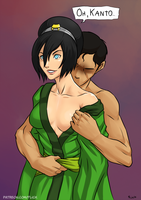 Toph and (hypothetical) Kanto by Flick-the-Thief