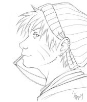 -NARUTO- lineart by nocturnalMoTH