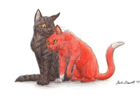 Brambleclaw and Squirrelflight by RunsWithHorses707