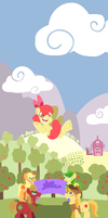 Flying Apple by Coggler