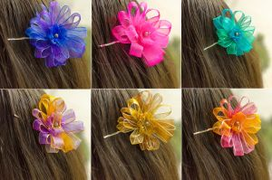 Flower Bobby Pins by RebeccaJewelry