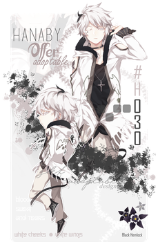 [CLOSED TYYY]_Hanaby 30_White cheeks White wings by Skf-Adopt