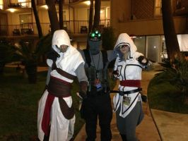 Sam Fisher and Assassin's Creed Assassins by W4RH0US3