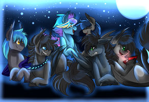 All The Batpones by AzulaGriffon