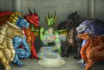 Gathering of the Legendary Dragons by TargonRedDragon