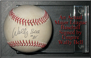 Major League ball signed by Wally Bell by WDWParksGal