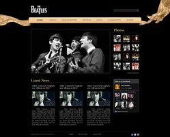 the Beatles website by Qeep