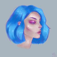 Neon blue by pinkastr