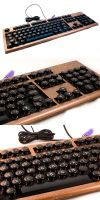 Steampunk Keyboard Mod by Atratus
