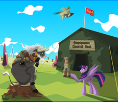 The Mad Old Bull and His Way to Solve Problems by DatPonyPL