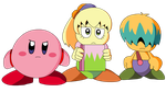 Kirby, Tiff and Tuff (Colored) by KingAsylus91