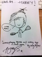 Harry's drawing of Louis! by LUVPeetaNewtHarryP