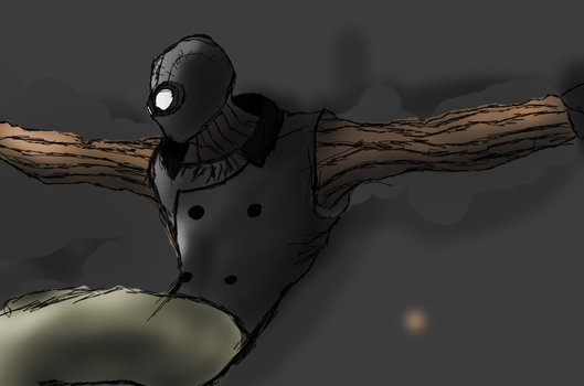 Spider-Man Noir sketch - trying to develop a style by Stuff-incorporated