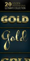 20 Gold Photoshop Styles - Ultimate Collection by survivorcz