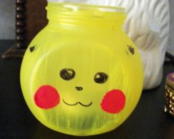 Pikachu tea light holder by chaobreeder16