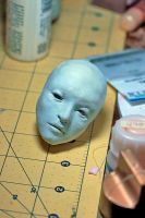 WIP Head - Castiel? by Armeleia