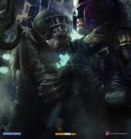 Judge Dredd Vs Judge Death by vshen