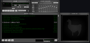 DEFAult winamp Skin Grey And green By EmiLEDESMArg by EmiLEDESMArg