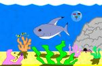 Shark and surrounding reef by i-love-exclamations