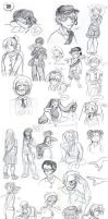 Sketchdump 6 - July by Chibidoodles