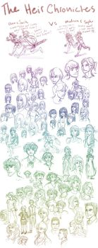 Heir Chronicles sketch dump by l-Ataraxia-l
