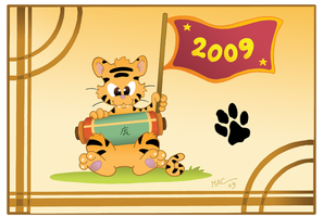 Tiger card commission by MacOneill
