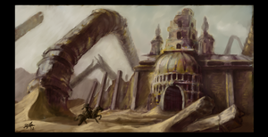 Entrance to the Abandoned City by IronImage