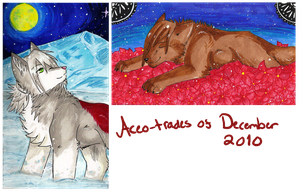 ACEO-trades of December 2010 by xCastra