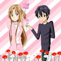 .: SAO : here's a flower to you :. by Sincity2100