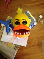Chica mask by Silversaxxy