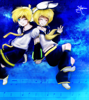Vocaloid Twins -for loveanime- by Anante