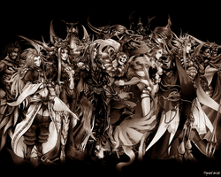 Dissidia Wallpaper: Bad, Brown by DymedAnGel