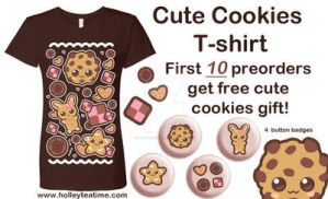 Cute cookies t-shirt Preorder by miemie-chan3