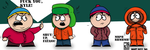 South Park Kids COLORED by RCKNP