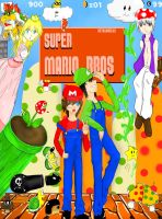 Super Mario Bros- anime style by metalangel123