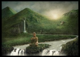 The Buddha - Matte Painting by ChristianBT