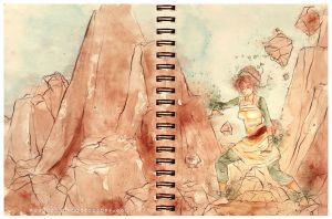 Avatar: Toph's training by Rocktuete