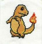 #004 Charmander Cross Stitch by Pansymanic