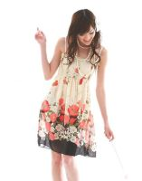 Cute Floral Chiffon Tube Dress by fashionclothing4u