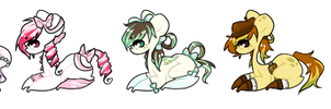100 Pony Themes Batch #1 - Auction - [1-5] - Open! by KawaiiChuuAdopts