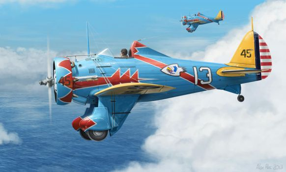 P-26A Peashooters by Abiogenisis