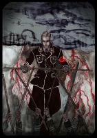 Heydrich tarot: seven of wands by hello-heydi